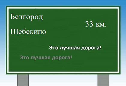 расстояние от Белгорода до
