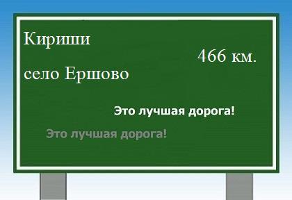 Расстояние Кириши село Ершово. расстояние Кириши село Ершово как добраться.