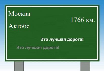 расстояние Москва Актобе как