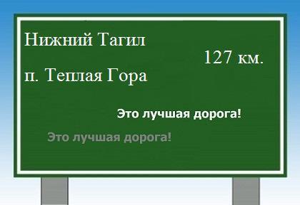 расстояние Нижний Тагил поселок Теплая Гора как добраться.