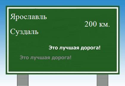 расстояние Ярославль Суздаль