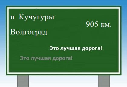 расстояние поселок Кучугуры