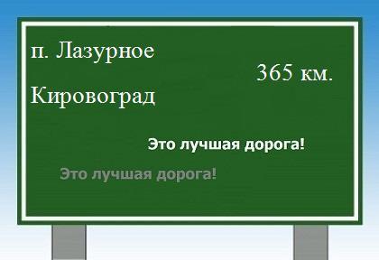 Лазурное до Кировограда.