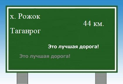 Карта от хутора Рожок до