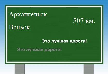 Карта от Архангельска до Вельска